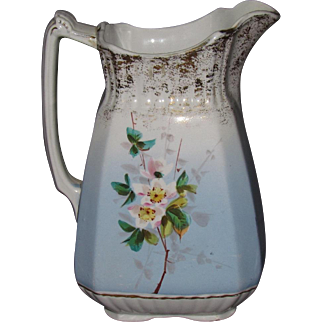 Wood & Son Hand Painted Ironstone Milk Pitcher England