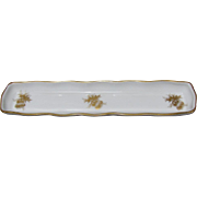 Vintage Limoges Gold Decorated Porcelain Pen Tray