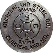 Cumberland Steel Shafts Maryland Advertising Paperweight