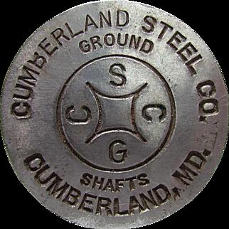 Cumberland Steel Shafts Maryland Advertising Paperweight