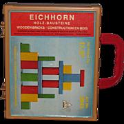 Vintage Eichhorn Children's Painted Wood Blocks #2843