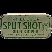 Pflueger Split Shot BB Sinkers Tin With Sinkers