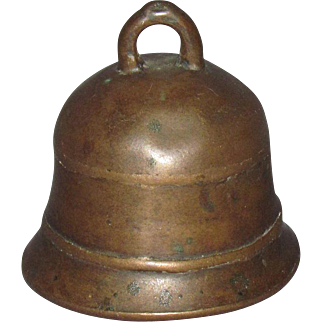 19th Century Small Bronze Servant or Shop Bell
