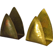 E.T.C. Fish Tioga PA Hand Wrought Hammered Brass Holders