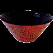 Mid -Century Eames Era Enamel on Steel Bowl Planter-Rare