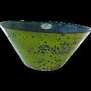 Rare Eames Era Mid- Century Modern  Enamel  Bowl-Lime Green Hanova,Pasadena,Ca. - Red Tag Sale Item