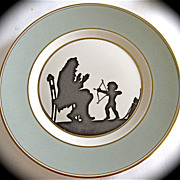"Rare Royal Copenhagen Silhouette Collector Plate Signed"" Else Hasserlis"" Rare Plate"