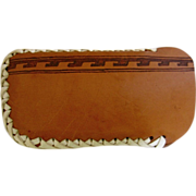 Men's Eyeglass Case Native American Leather Hand Stitched