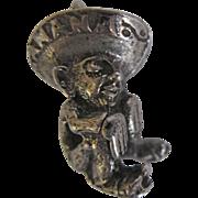 Vintage Sterling Silver Charm 3D Manana Siesta Sleeping Sombrero Man Siesta Sleeping