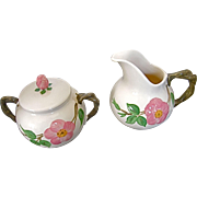 Franciscan Desert Rose Creamer & Covered Sugar Bowl - England mark