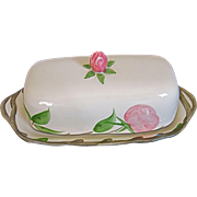 Franciscan Desert Rose 1/4 Lb Covered Butter Dish-England MARK