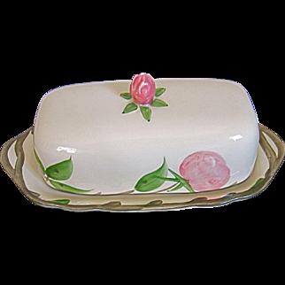 Franciscan Desert Rose 1/4 Lb Covered Butter Dish-England MARK
