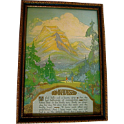 Buzza Motto 1928 Comradeship Edgar Guest Art Deco Park Mountains Rangers