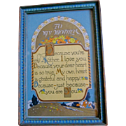 Vintage Mother Motto Original Frame-Mother's Day