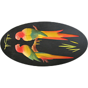 Art Deco Parrots Chalk Picture