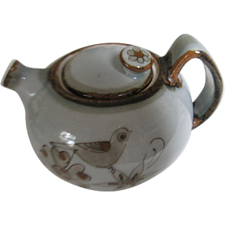 Ken Edwards El Palomar Birds Tea Pot Chapalita Cat face