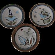 Ken Edwards El Palomar Birds Salad Plates