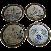 Ken Edwards El Palomar Birds Dinner Plates Set of 4