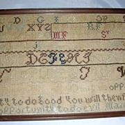 American Needlework Marking Sampler by Martha Forwood, c. 1830