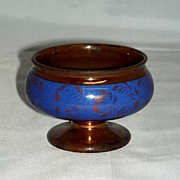 Copper Lustre Luster Master Salt w/ Blue Slip Band & Flowers