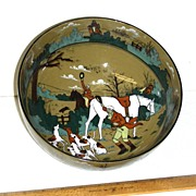 Buffalo Pottery DELDARE Fallowfield Hunt Salad Bowl 1909