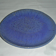 Pennsylvania Blue Glazed Redware Plate
