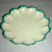 Green Shell or Feather Edge Scalloped Rim Bowl Marked Wedgwood, c. 1810