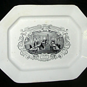 "Large American Historical Staffordshire ""Boston Mails"" Platter, c. 1840"