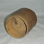 Unusual 2 Pound Wooden Helmet Butter Mold w/ Strawberry and Leaf Carved Plunger, late 19th Century