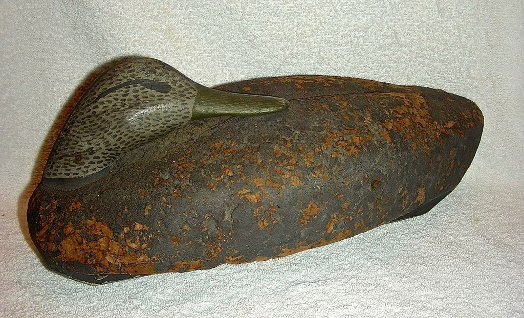 Cork Bodied Sleeper or Preening Black Duck Decoy