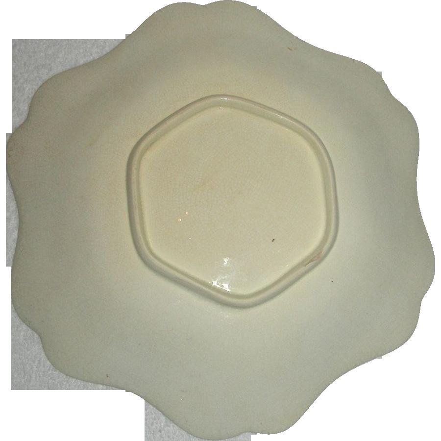 Scalloped Edge Wedgwood Creamware Dish, c. 1820