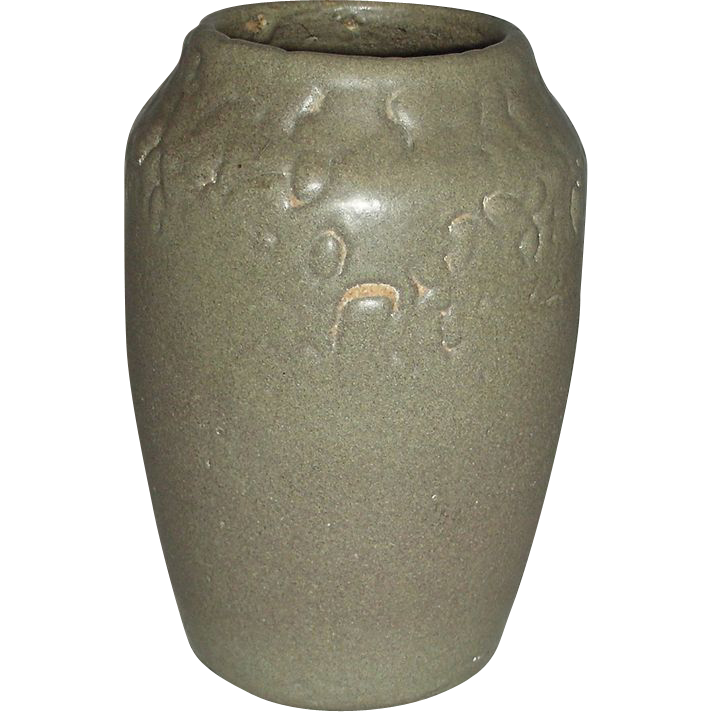 Gray Glazed Hampshire Pottery Vase, Early 20th Century