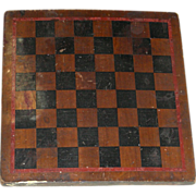 Small 3-Color American Game Board in Original Paint, Late 19th Century