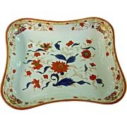 Unusual Wedgwood Pearlware Dessert Dish in Imari Floral Decoration, c. 1790-1800