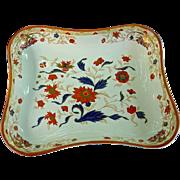Unusual Wedgwood Pearlware Dessert Dish in Imari Floral Decoration, c. 1790-1800