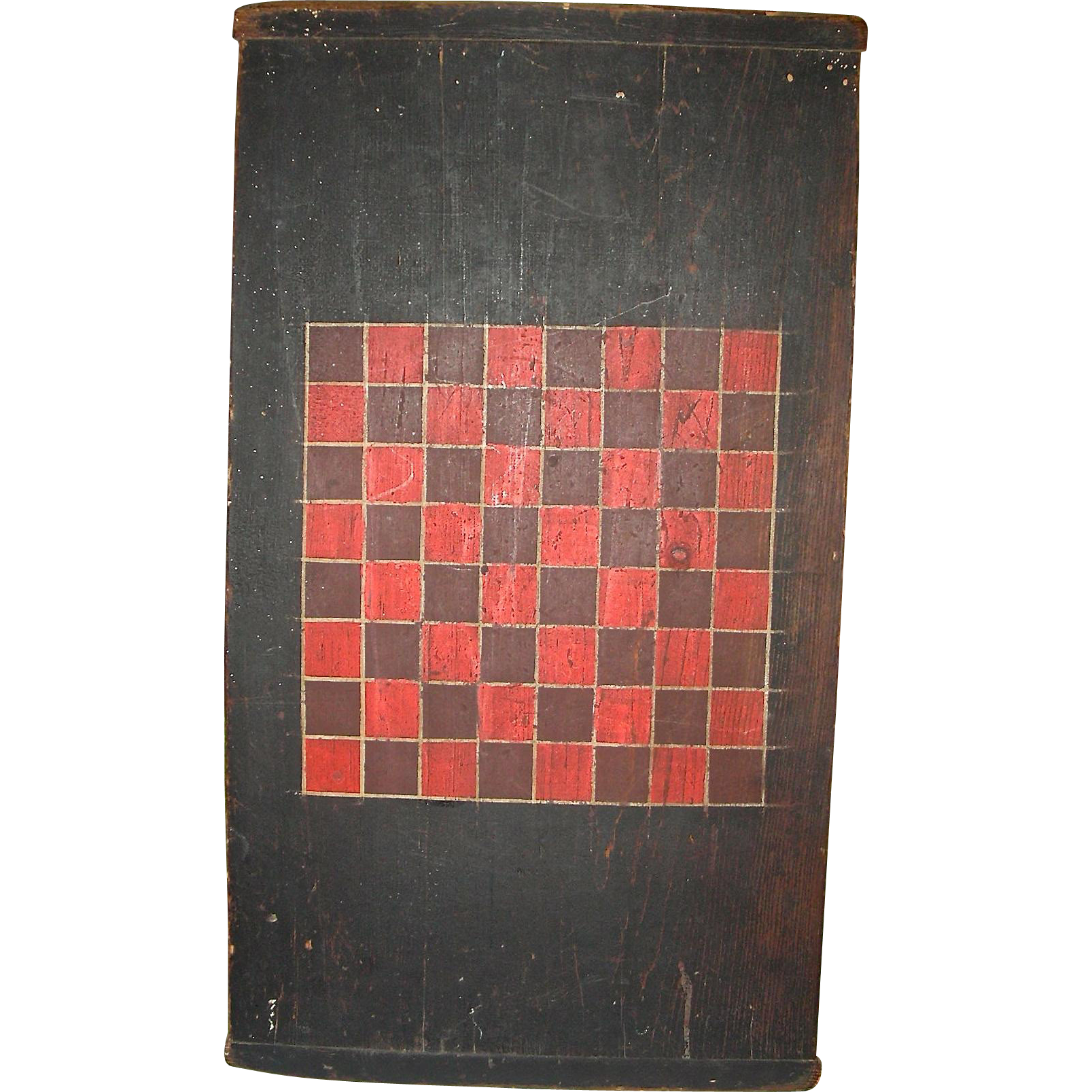 3-Color American Game or Checkerboard w/ Breadboard Ends w/ Original Surface