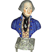 Staffordshire Bust of George Washington, c. 1850-1860