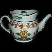 English Pearlware Teapot Decorated in Pratt Colors, c. 1810