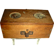 Dovetailed Wooden Bee Box w/ Isinglass Windows, Early 20th Century