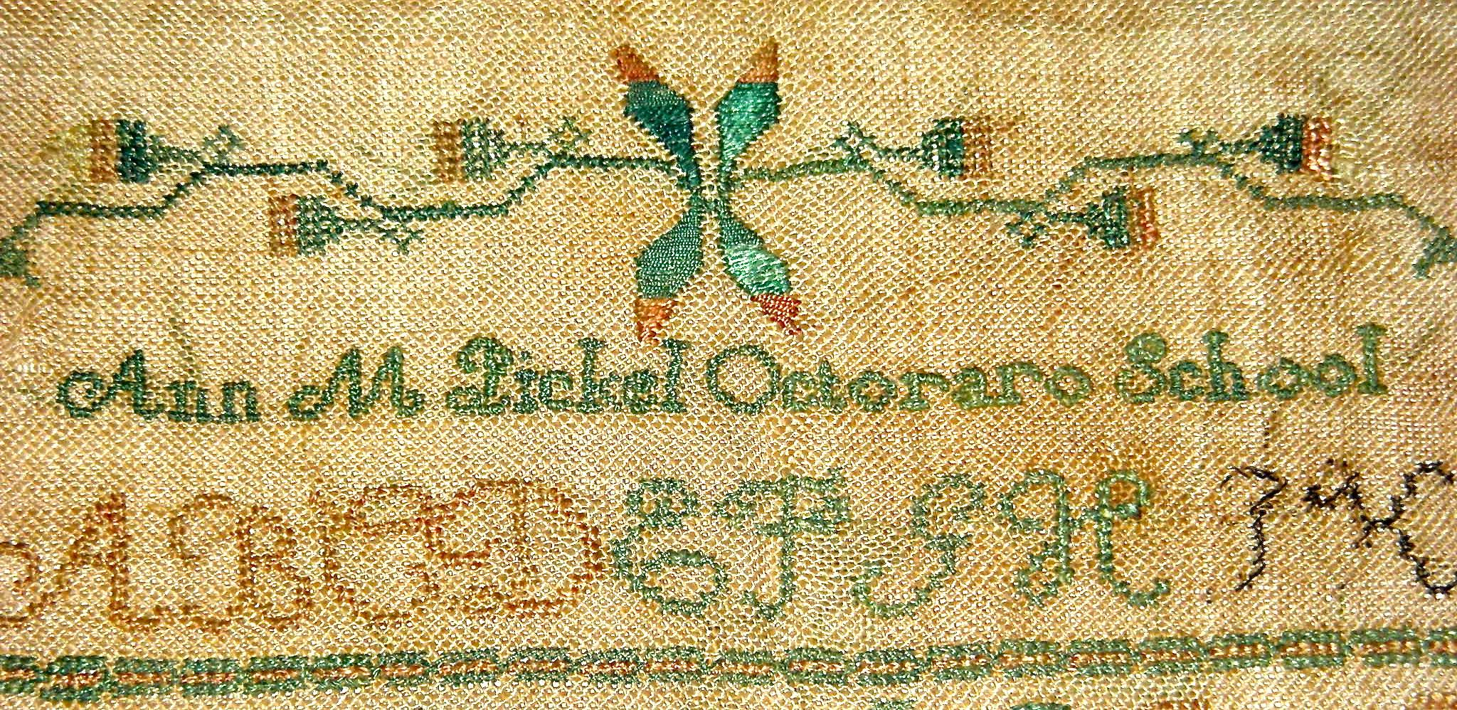 how to change the name on your iphone 19th century american quaker needlework sampler by m 20760
