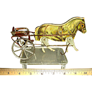 Paper Lithograph Pony with Cart w/ Moving Legs, c. 1900