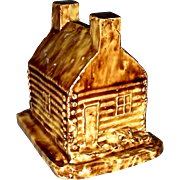 Rare Stoneware Log Cabin Bank from 1840 Presidential Campaign of William Henry Harrison