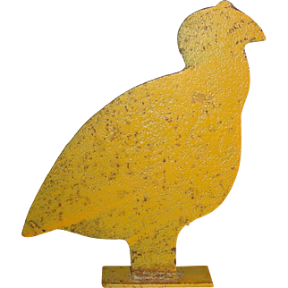 Large Turkey or Grouse Form Cast Iron Shooting Galley Target