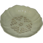 Pierced & Footed English Creamware Berry Dish, c. 1800