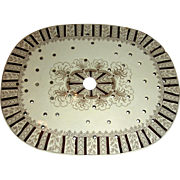 Brown Transfer Staffordshire Drainer w/ Flower Border, c. 1840