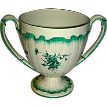 """Very Large (6 ¾"""") 2-Handled Staffordshire Cup, Marked Wedgwood, c. 1785"""