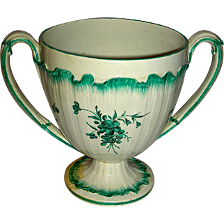 "Very Large (6 ¾"") 2-Handled Staffordshire Cup, Marked Wedgwood, c. 1785"