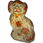 Late 19th Century American Chalk Ware Dog (Spaniel)