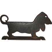Cast Iron Dachshund Form Dog Boot Scraper