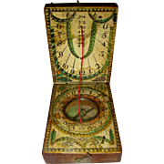 Diptych Pocket Sundial Compass, c. 1800